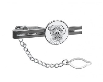 NEW! Bullmastiff - Tie pin with an image of a dog.