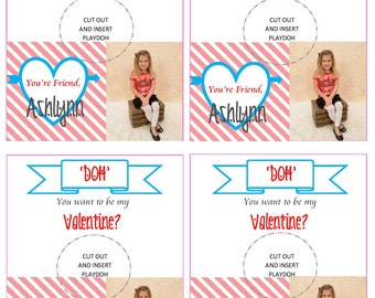 Doh You Want To Be My Valentine Card Printable