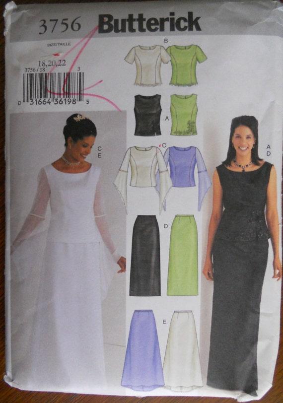 Butterick 3756. Plus size wedding dress pattern. Plus size ...