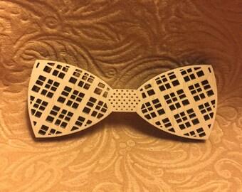 Custom Laser Cut Wood Bow Tie