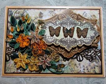 Floral Fantasy Card instruction sheet