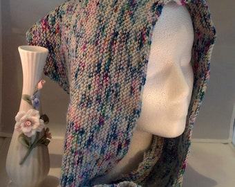 Sweet Splash Hand Knit Shawlette