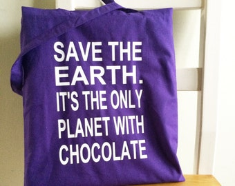 Save the Earth Cotton Shopping Bag