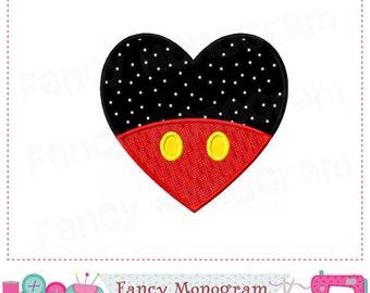 Mickey design,Mickey applique,Valentine applique,Mickey,Valentine's day,Mickey Pants.-03