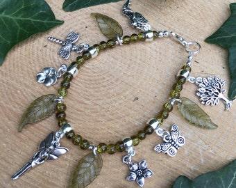Woodland Faery (Fairy) Bracelet