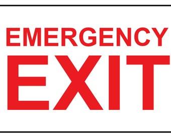 "Emergency Exit Reflective Aluminium Sign 12"" x 18"""