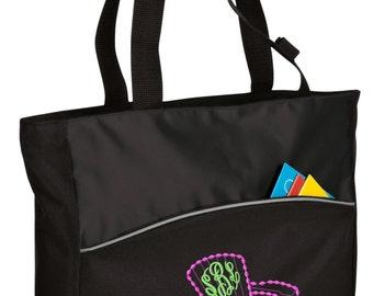 Personalized Tote Bag Embroidered Tote Bag Custom Tote Bag - Sports - Adirondack Chair - B1510
