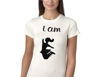 I Am Cheer White Juniors Longer Length T-Shirt