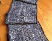 2.5 Yards Thai Hmong Indigo Batik Fabric 039 Vintage Style Handwoven Ethnic Cotton Tribal Fabric