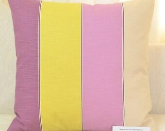 """Ashley Wilde Lynn Heather Cushion Cover 17"""" x 17"""" (43cm x 43cm) 100% Cotton Wide Stripe"""