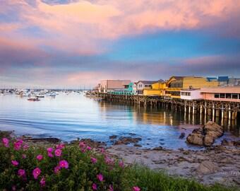 Large California Seascape Print, Monterey Bay Picture, Fisherman's Wharf Photo, Harbor Art, Pacific Coast Fine Art, Limited Edition Print