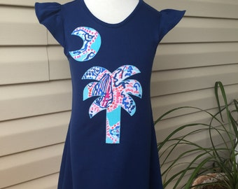 Lilly Pulitzer Shell Me About It Palm Tree Dress