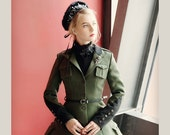 Military Steampunk Vintage Retro Trench Autumn Uniform Coat