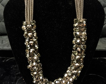 J.Crew style Vintage Art Deco Statement Necklace