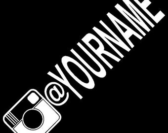 """Instagram @""""yourname"""" Decal"""