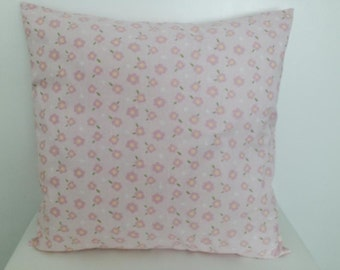 Floral Pillow cover with insert Pretty Pink