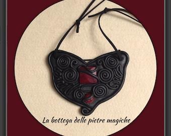"""Necklace CHEVEYO """"/"""" warrior within """"! -Dark Necklace-gemstone Necklace-Jewelry-Jewelry-Handmade"""