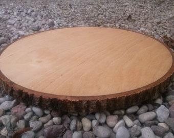 Large wooden coaster, Wooden tray cake, Cake stand,Wood stand, Wood circle 1 pcs, Round wooden, Tree slice, Rustic table decor, wooden pad