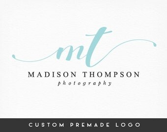 Premade Logo Design, Typography Logo, Photography Logo, Business Logo, Branding Kit