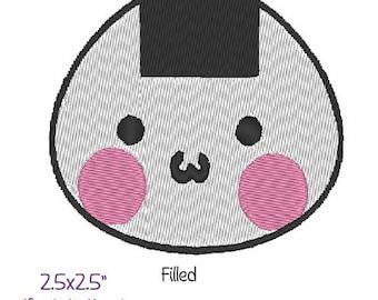 Onigiri Riceball Machine Embroidery Design. TWO types!