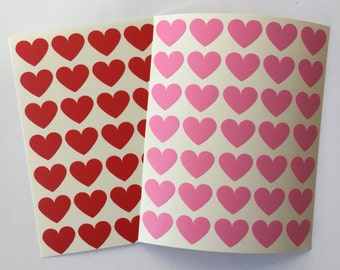 35 Valentine's Mini Hearts Stickers, Valentines Seal Stickers, Card Embellishment, Envelope Seal, Scrapbooking Sticker, Party Decorations