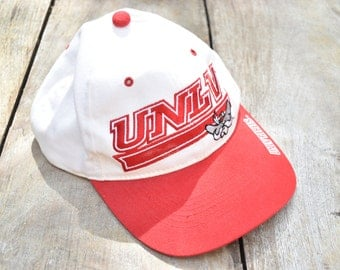 Vintage White and Red UNLV Rebels Hat
