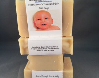 Sweet Sawyer's Unscented Goat Milk Soap