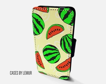 WATERMELON Iphone 6 Wallet Case Leather Iphone 6 Case Leather Iphone 6 Flip Case Iphone 6 Leather Wallet Case Iphone 6 Leather Sleeve Cover