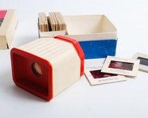 Vintage Russian Stereoscope Slide viewer in carton box, Diascope - 2 Leningrad (C0306)
