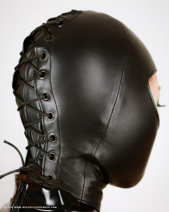 Custom Made Leather Bondage Hoods