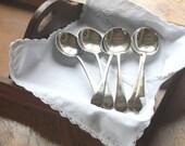 Vintage silver plate soup spoons EPNS A1 ~ set of 6