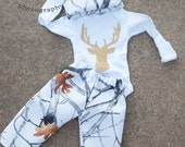 Baby boy coming home-Stag coming home outfit-Deer coming home outfit-Baby girl outfit-Baby shower gift-camo outfit-boy coming home outfit