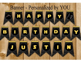 Star Wars Banner, Star Wars Party Banner, Star Wars Birthday Party Banner, Instant Download, Personalized by You, Star Wars Birthday Banner