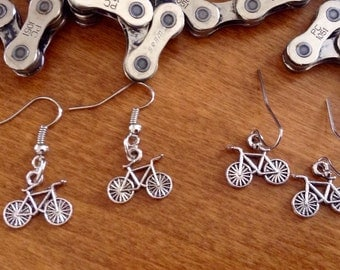 Bike Charm Earrings/Female Cyclist Gift/Bike Jewelry/Bicycle Earrings