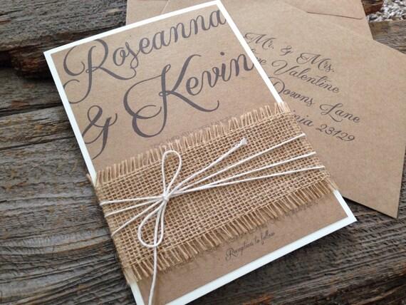 Rustic Romantic Wedding Invitations: Rustic Wedding InvitationRomantic Wedding InvitationElegant