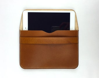 Leather iPad Mini Sleeve, iPad case, Tablet, E-Reader Case, Personalized