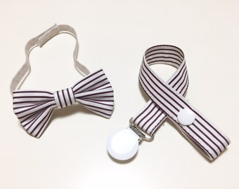 SET PAPILLON and pacifier Stripe in coordinated