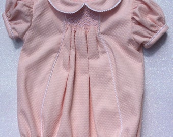 Smocked Baby Girl romper