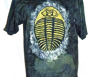Batik T-shirt with Trilobite Design
