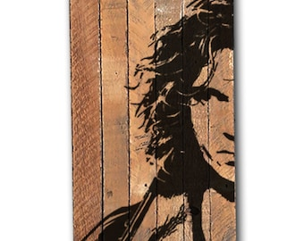 INXS Michael Hutchence Painting on reclaimed wood - Made to order