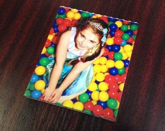 Photograph Medium Portrait. Custom printed onto toy building brick pieces