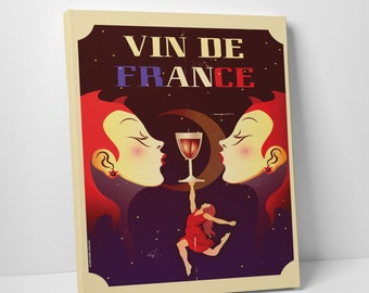 Vin De France Gallery Wrapped Canvas Print