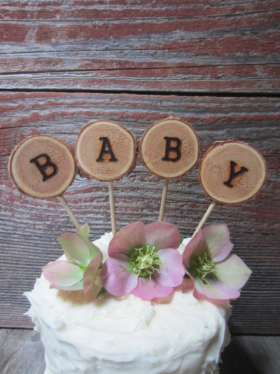 baby cake topper rustic baby cake topper baby shower cake topper