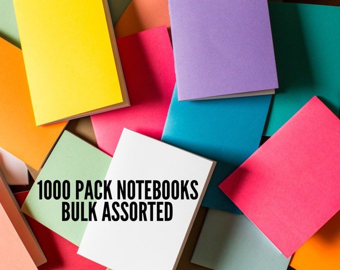 Bulk Notebooks 1000 Pack journal Handmade Pocket Journals, Mini Diaries, Jotters, Blank Books, notebook supply, FREE U.S. SHIPPING