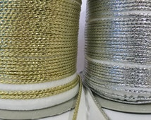95 yards Silver Welting Cord, Gold Welting Cord, ready to sew Welting cord, piping trim,edge finishing trim,indian gotta patti ,piping cord,