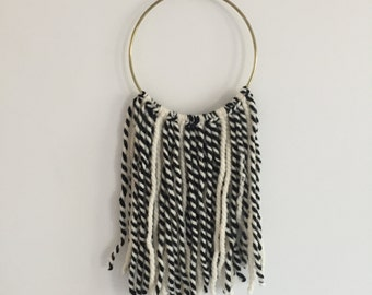 Black & White Hoop Dreamcatcher