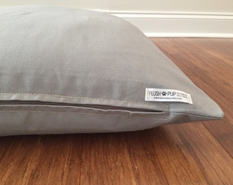 Gray dog bed cover, Solid color dog bed cover, all gray dog bed cover, Grey dog bed cover, dog beds cover
