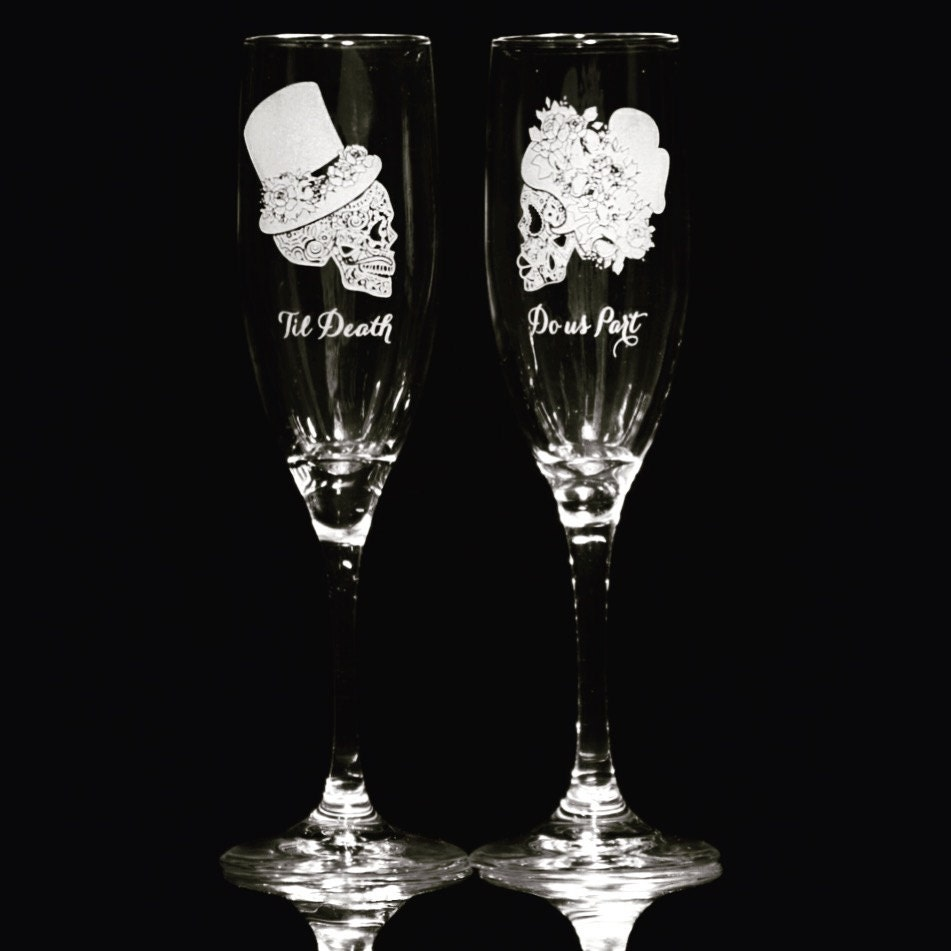 champagne flutes personalized wedding toast wedding