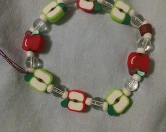 Apples to apples whimsy bracelet