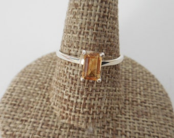 Citrine ring | Citrine Ring Silver | Ring citrine size 7 | Sterling silver Citrine Ring | November Birthstone Ring | Genuine Citrine